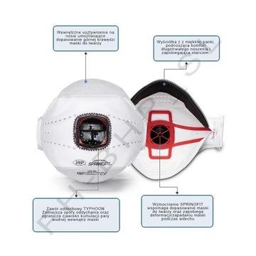 Maska Springfit435 FFP3 zamiennik 3M 9322, GRATIS!
