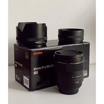 Obiektyw SIGMA EX DG HSM 85mm f/1.4 dla Canon. BDB