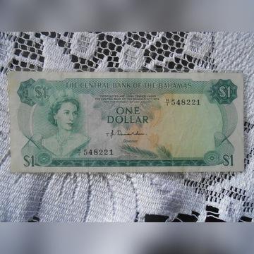 BAHAMY 1974 1 dolar - Piękny stan. Wczesna seria