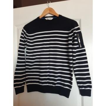 Sweter chłopięcy w paski H&M, 12 - 14 lat