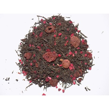 Herbata czarna liściasta z malinami 50g