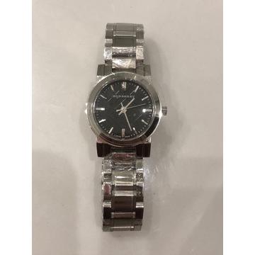 Zegarek BURBERRY srebrny czarny