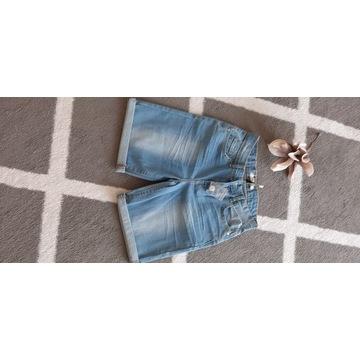 krótkie spodenki jeansowe rozmiar Xs