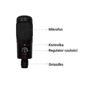 Mikrofon pojemnościowy na USB dla graczy - zestaw