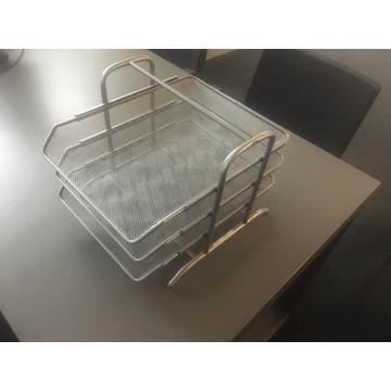 Szuflady NA dokumenty 3 półki metalowa A4 srebrna