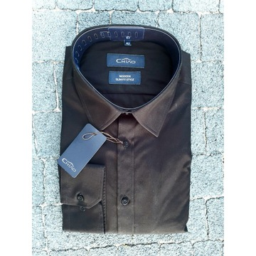 koszula czarna męska- 100% bawełny, wysoka jakość.