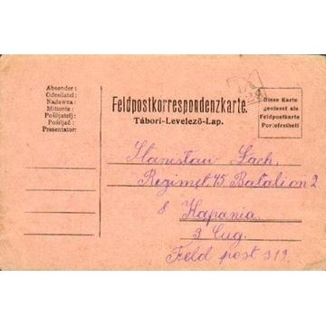 1916 - kamuflażowy stempel okręgowy