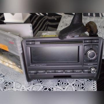 radio nawigacja +oryg.płyta+antena rekin audi TT8J