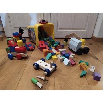 Zabawki klocki drewniane