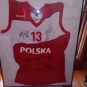 Koszulka Marcina Gortata z siedmoma autografami