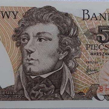 Banknot 500zł 1979 r. seria BH UNC