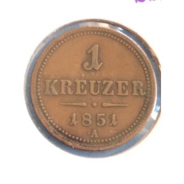 Austria 1 Krajcar 1851 A
