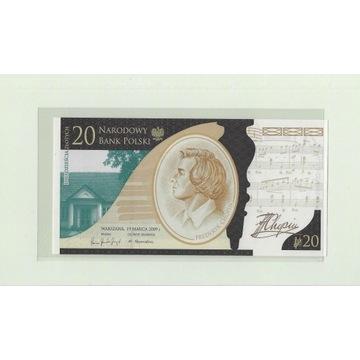 200 rocznica urodzin Fryderyka Chopina 20 zł.
