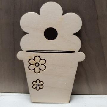 Pik dekoracyjny kwiatek w doniczce