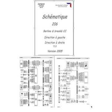 Schemat instalacji samochodowej peugeot 206 2005r
