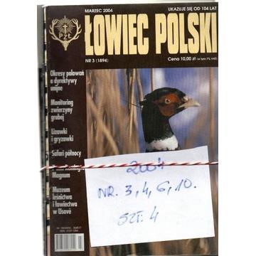 2004,ŁOWIEC POLSKI ,NUMERY JAK NA SKANIE,SZT.4