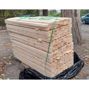 Sztachety drewniane ogrodzenie płot KOLOR Deski