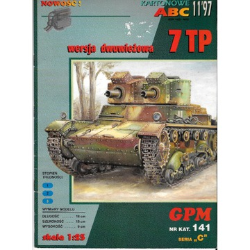 GPM 11 1997 nr 141 7TP czołg dwuwieżowy model 1:25
