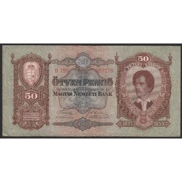 Węgry 50 pengo 1932 - D195 - Petofi Sandor