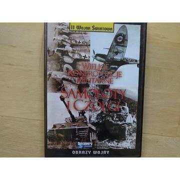 """___ DVD """"Wielkie konfrontacje wojenne samoloty i """""""