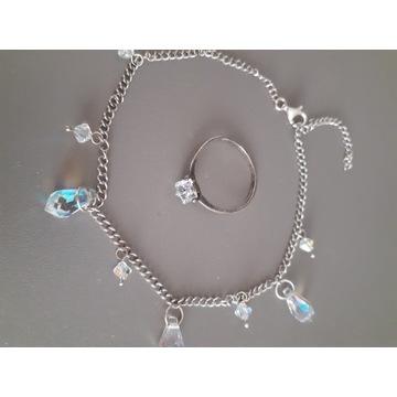 Srebro 925, bransoleta i pierścionek