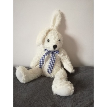 Maskotka biały króliczek przytulanka