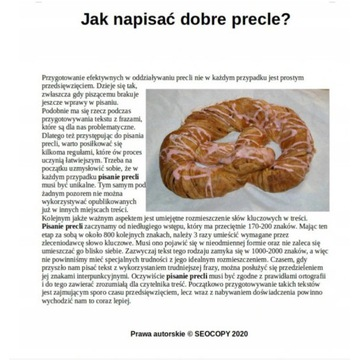 Copywriting Teksty SEO Presell Pages 1000zzs