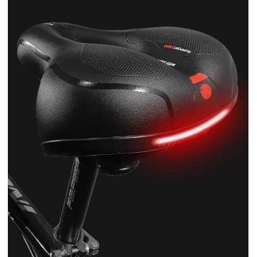 Wygodne SIODŁO rowerowe siodełko z oświetleniem sk