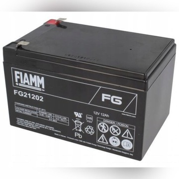 4 xAkumulatory UPS Fiamm 12V 12000mAh FG21202