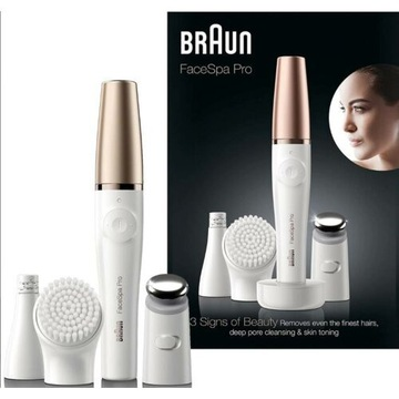 DEPILATOR Braun FaceSpa 911 Pro -NOWY-,szczoteczka