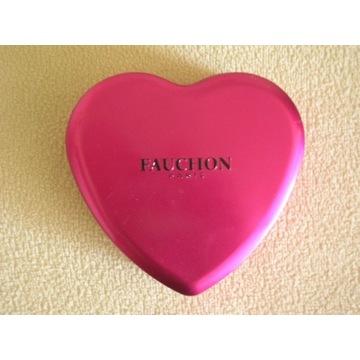 metalowa puszka pudełko różowe serce FAUCHON Paris