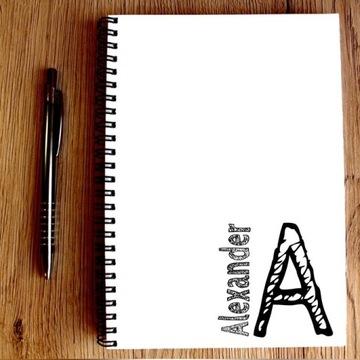 Notes Personalizowany A5 Kraft Notatnik z Imieniem