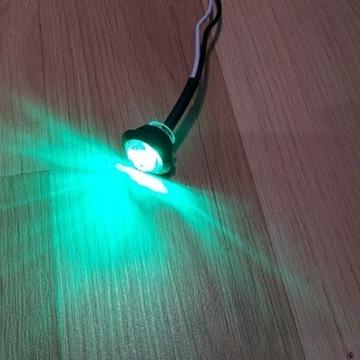 Żielone OBRYSÓWKI LED do łodzi wodoodporne12v
