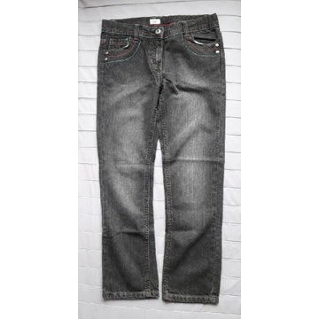 F&F czarne spodnie jeansy dziecięce r.140
