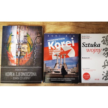 SUPER ZESTAW 3 KSIĄŻEK - KOREA, SZTUKA WOJNY I...