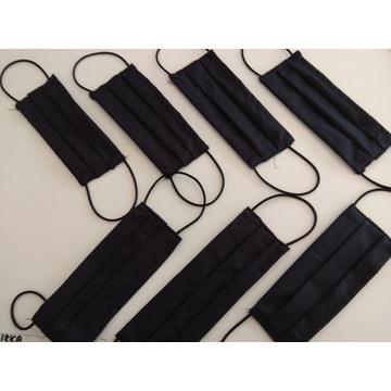 Maska  bawełniana  -wielokrotnego użytku -czarna