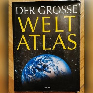 Wielki Atlas Świata po niemiecku, wyd. Knaur 1998