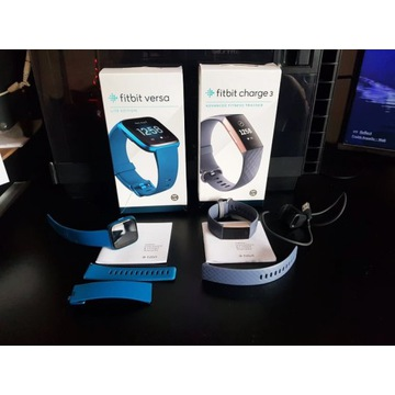 Fitbit Charge 3 + Fitbit Versa Lite Edition