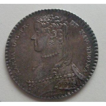 MARIA LESZCZYŃSKA medal noworoczny 1756. St. 2+/1-