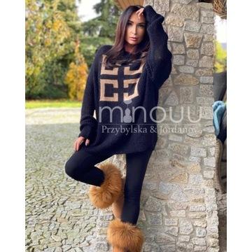 Sweter Moherowe Love Alizee czarny / beż