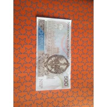 Banknot 500 zł z AA