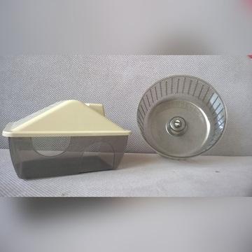 Domek i kołowrotek dla chomiczka NOWE