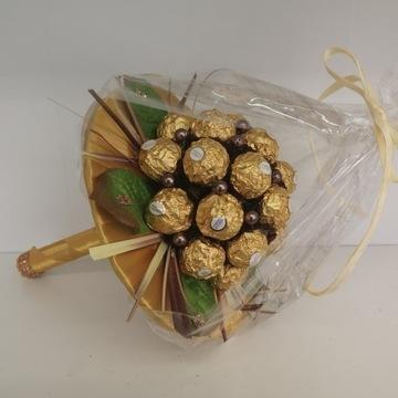 Słodki Bukiet z Ferrero Rocher/Raffaello PREZENT