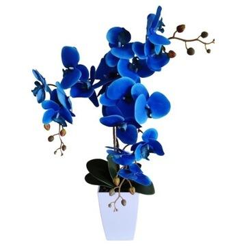 Storczyk niebieski trz pędy sztuczny gumowe płatki
