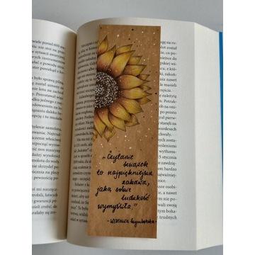 zakładka do książki - ręcznie malowana, rękodzieło