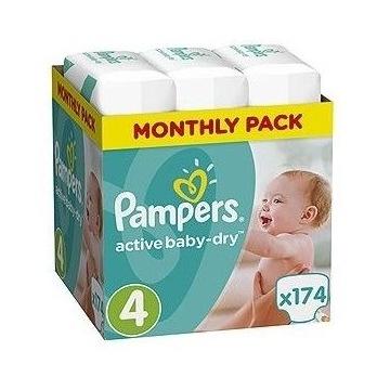 Pieluszki PAMPERS active baby-dry 4