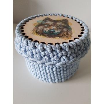 Koszyk ze sznurka bawełnianego WILK handmade