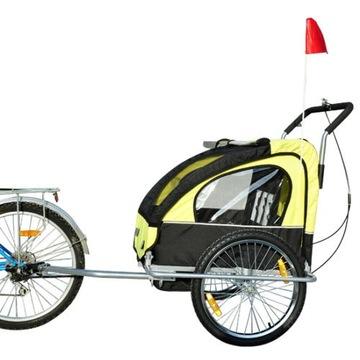 Przyczepka rowerowa dwuosobowa.