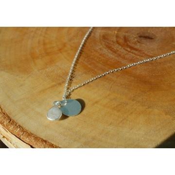naszyjnik srebny,kamień księżycowy,celebrytka,925