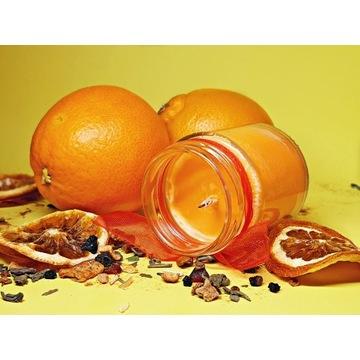 ŚWIECZKA SOJOWA 135ml zapach pomarańczowy